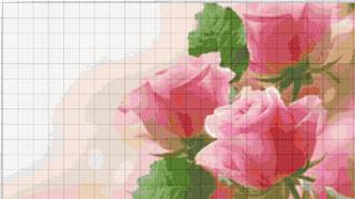 Вышивание крестиком: схемы 3 розовых розы