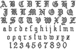 Вышивание крестиком. Старый английский алфавит