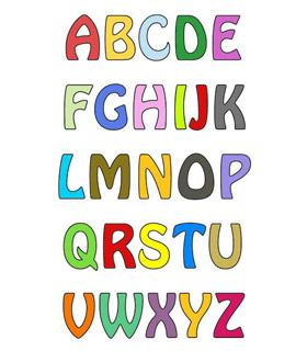 Вышивание крестиком. Английские буквы