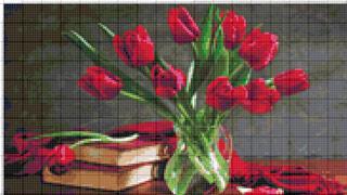 Вышивание крестиком: схемы Букет тюльпанов