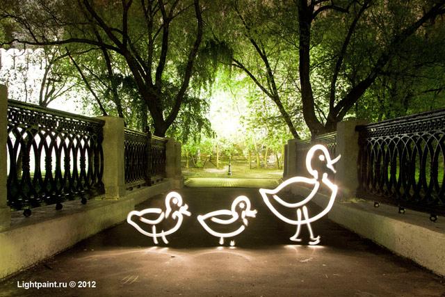 Фризлайт фото: утка с утятами