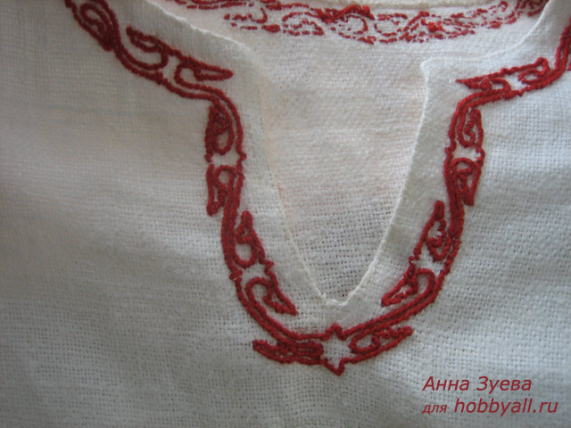 Реконструкция вышивки