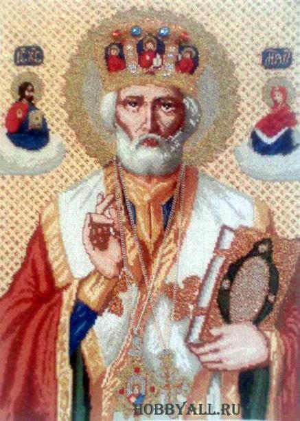 Вышивка икон: Св. Николай
