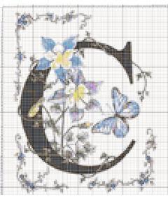 Вышивание крестиком: схемы Буква C