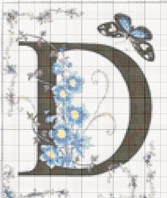 Вышивание крестиком: схемы Буква D