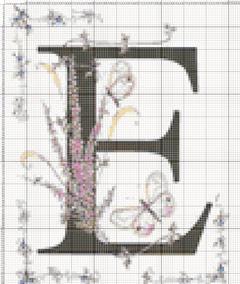 Вышивание крестиком: схемы Буква E