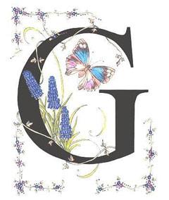 Вышивание крестиком: схемы Буква G