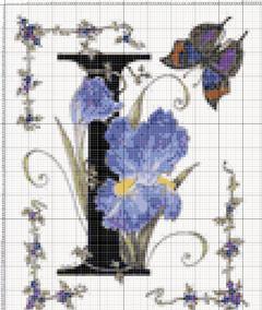 Вышивание крестиком: схемы Буква I