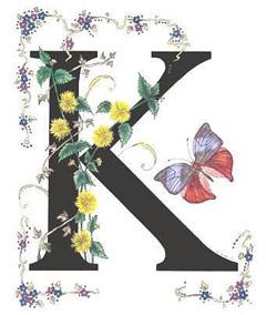 Вышивание крестиком: схемы Буква K