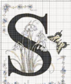 Вышивание крестиком: схемы Буква S