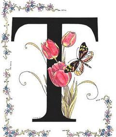 Вышивание крестиком: схемы Буква T