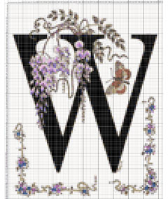 Вышивание крестиком: схемы Буква W