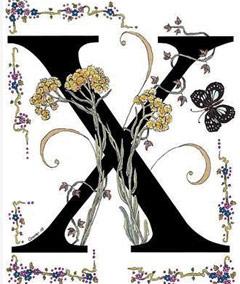 Вышивание крестиком: схемы Буква X
