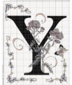 Вышивание крестиком: схемы Буква Y
