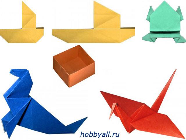 Оригами: простейшие фигурки из бумаги
