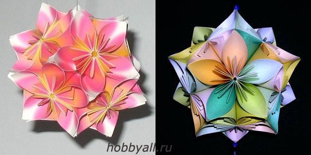 Кусудама - вид модульного оригами