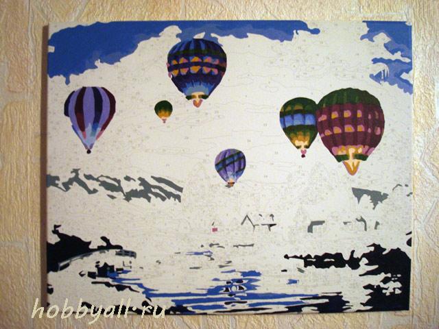 Этапы рисования красками на холсте
