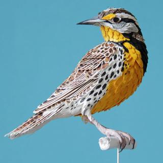 Вышивание крестиком. Бумажная птица