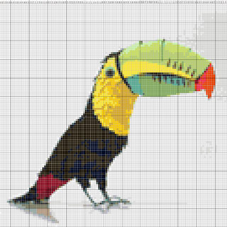 Вышивание крестиком. попугай из бумаги