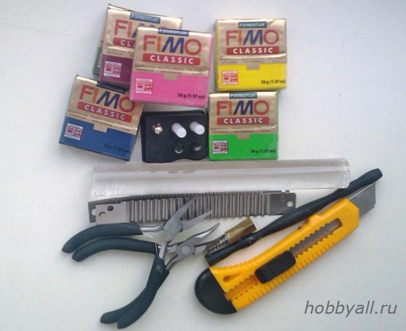 Лепка из полимерной глины: инструменты