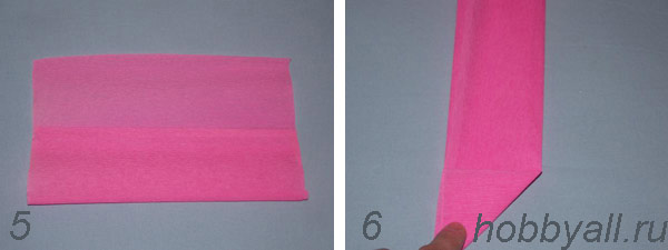 Схема сердечка из бумаги, пункты 5,6