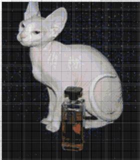 Сфинксы кошки схема вышивки