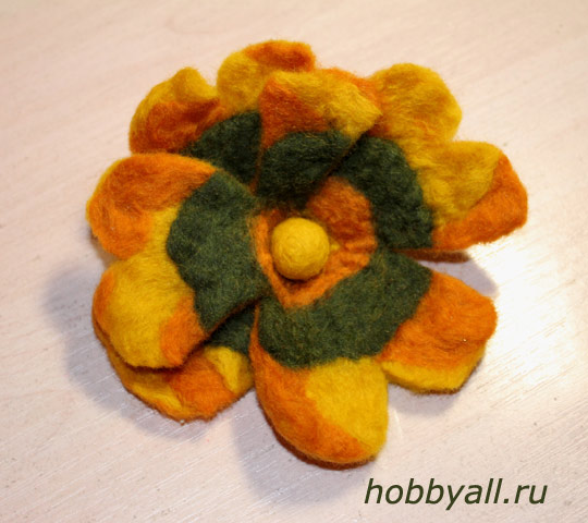 Валяние: цветок из войлока