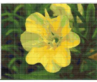 Вышивание крестиком: схемы Желтый цветок